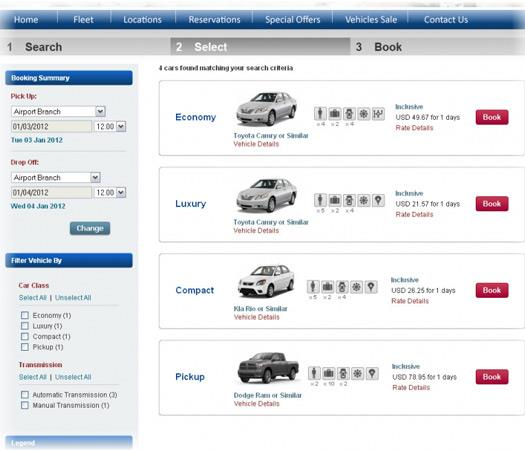 car booking engine
